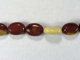 Бусина из мукаита, фигурная, 14x10 мм (Овал, Гладкая)