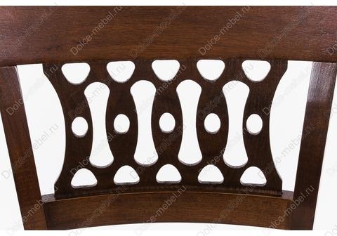 Стул Sofia деревянный с мягким сидением темный орех