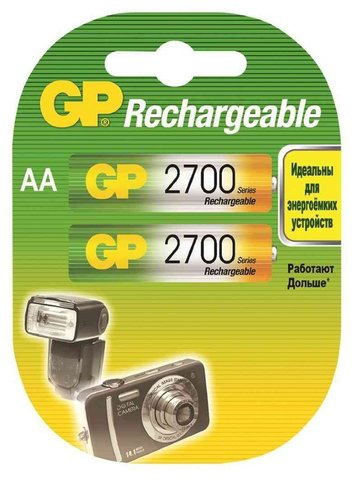 Аккумуляторы GP Ni-MH AA (R6) 2700 mAh