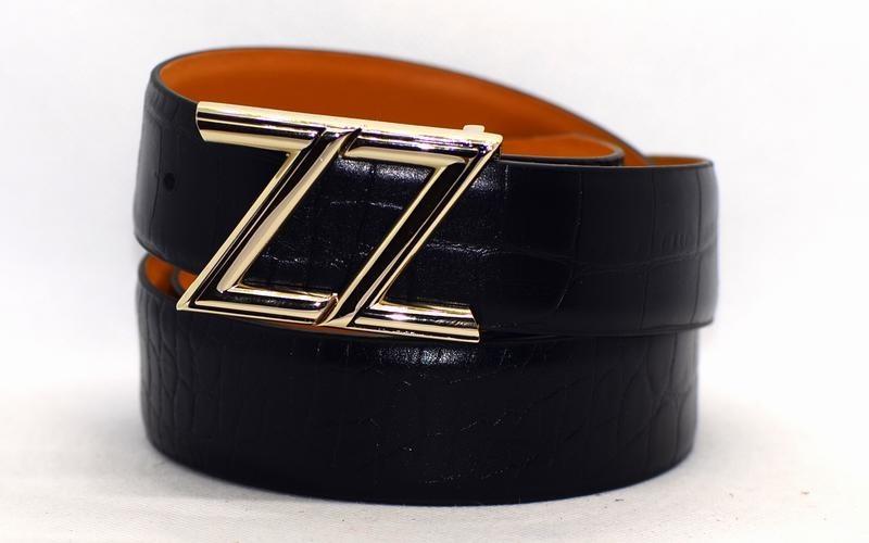 Мужской джинсовый ремень Zilli 2001 из натуральной кожи