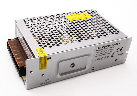 Блок питания 250Вт, 12В, IP23 для светодиодных лент и модулей