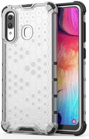 Чехол прозрачный на Samsung Galaxy A20 и A30, ударопрочный от Caseport, серия Honey