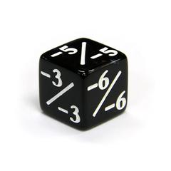Кубик черный D6 Negative