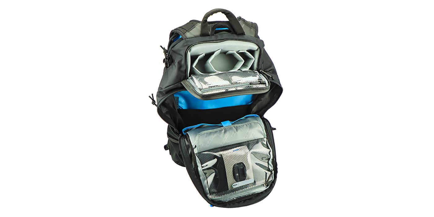 Рюкзак GoPro Seeker (AWOPB-002) открыт + верхний карман