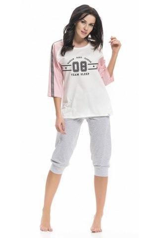 Комплект женский с бриджами и спортивной футболкой