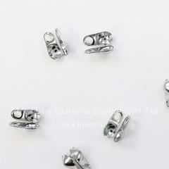 Концевик для маскировки узелка 6х4,5 мм, (цвет - никель), 20 штук