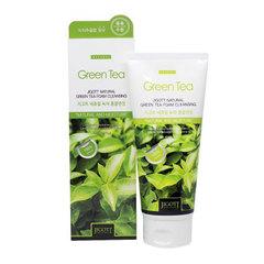 Jigott Natural Green Tea Foam Cleansing - Очищающая пенка с экстрактом зелёного чая