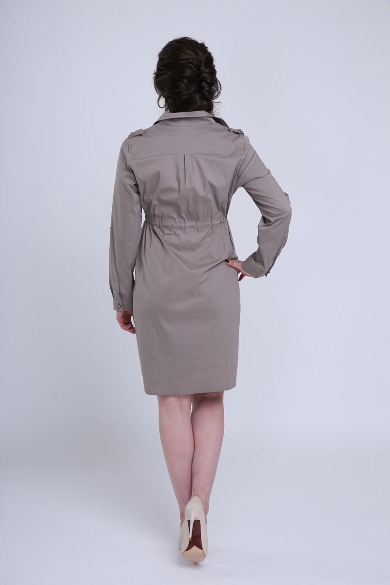 Фото платье для беременных EBRU от магазина СкороМама, коричневый, размеры.