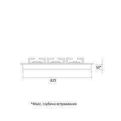 Варочная панель Kuppersberg FV9TGRZ BOR Bronze - схема