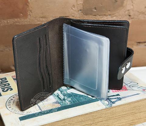 WL266 Вместительное портмоне с вкладышем под авто документы и отделением для паспорта