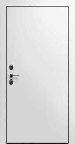 Входная дверь «Linea 1» в цвете, Эмаль белая