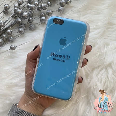 Чехол iPhone 6/6s Silicone Case /blue/ ярко-голубой 1:1