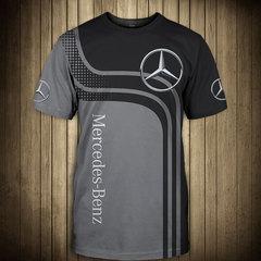 Футболка 3D принт, Mercedes-Benz  (3Д Мерседес-Бенц) 02