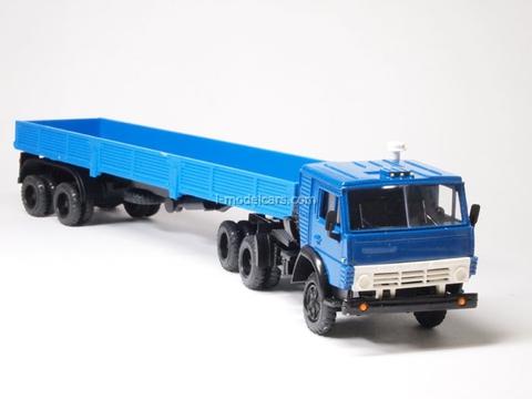 KAMAZ-5410 with semitrailer ODAZ-9370 blue Elecon 1:43