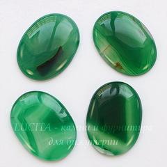 Кабошон овальный Агат зеленый (тониров), 40х30 мм
