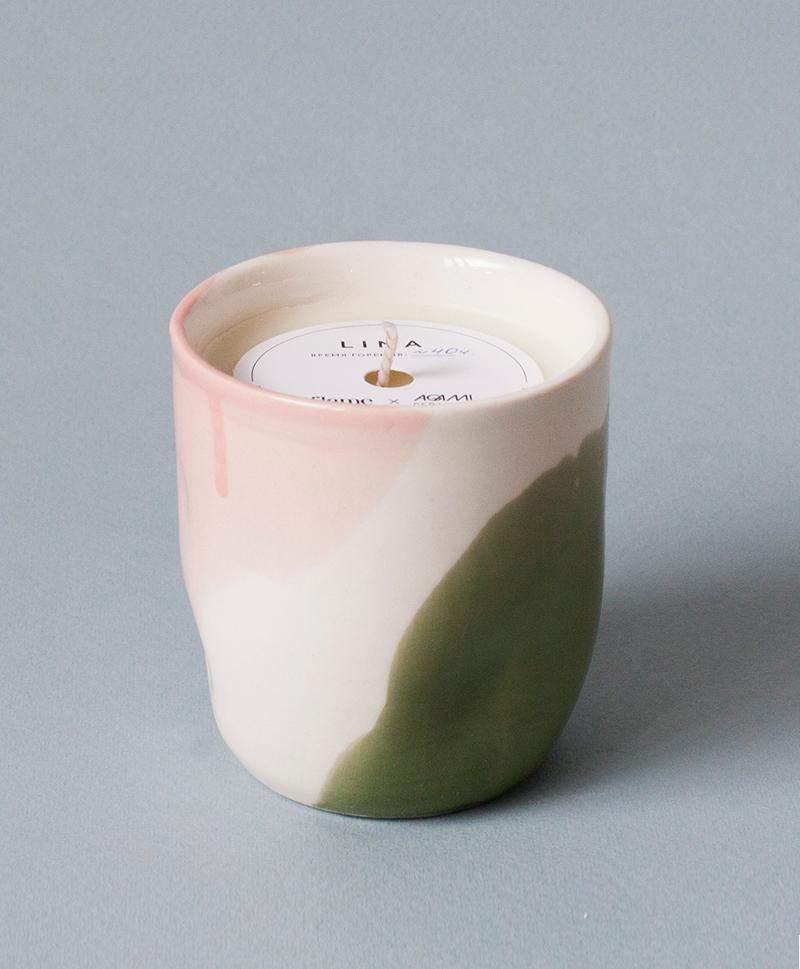 Ароматическая свеча в фарфоре Lina