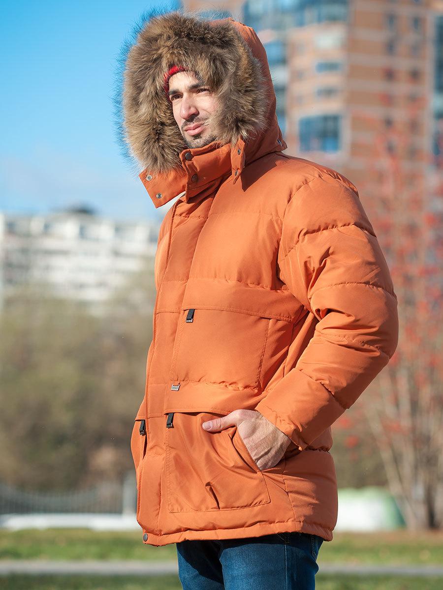 Joutsen пуховик Arctic жженый апельсин - Фото 1