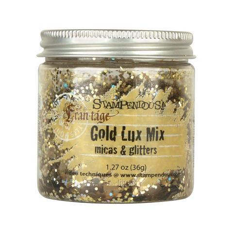 Слюда с глиттером - GOLD LUX MIX micas & glitter