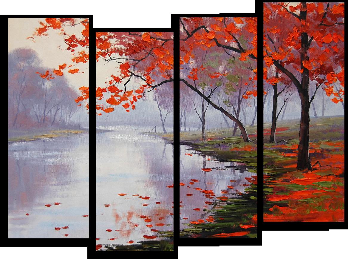 """Природа Модульная картина """"Отражение в озере"""" М330.png"""