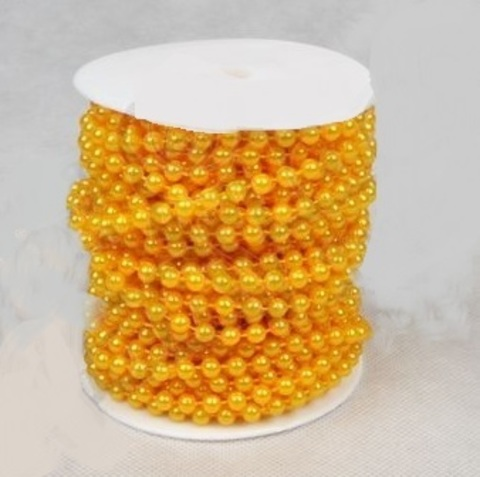 Бусы на бобине (размер: 6мм х 20м) Цвет:желтый