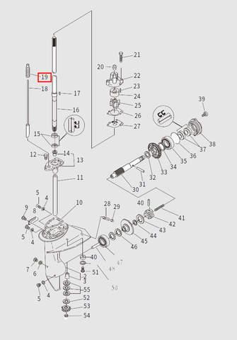 Сальник штока п/п для лодочного мотора T9.8 Sea-PRO (13-19)