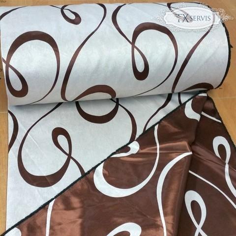Портьерная ткань блэкаут петля коричневая. Арт. ВLU-08-1 - 1.- 2. метр.