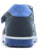 Детские сандалии Котофей 422056-23 из натуральной кожи, для мальчика, синие. Изображение 3 из 5.