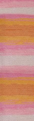 Пряжа Alize Bella Batik меланж розовый беж 6789