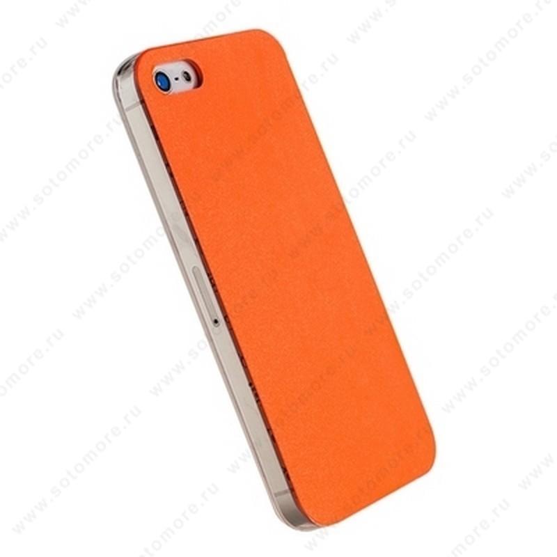 Накладка POMOSER для iPhone SE/ 5s/ 5C/ 5 оранжевая