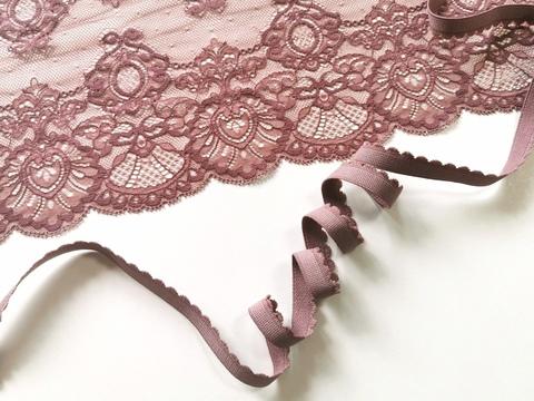 Отделочная резинка, 12 мм, кофейно-розовый (Арт: OTR635/12-885), м