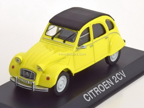 Citroen 2CV yellow-black 1:43 DeAgostini Masini de legenda #62