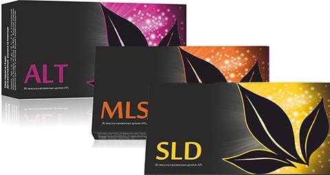 APL. Стартовый набор аккумулированных драже APLGO. ALT+MLS+SLD для суставов, общего очищения организма