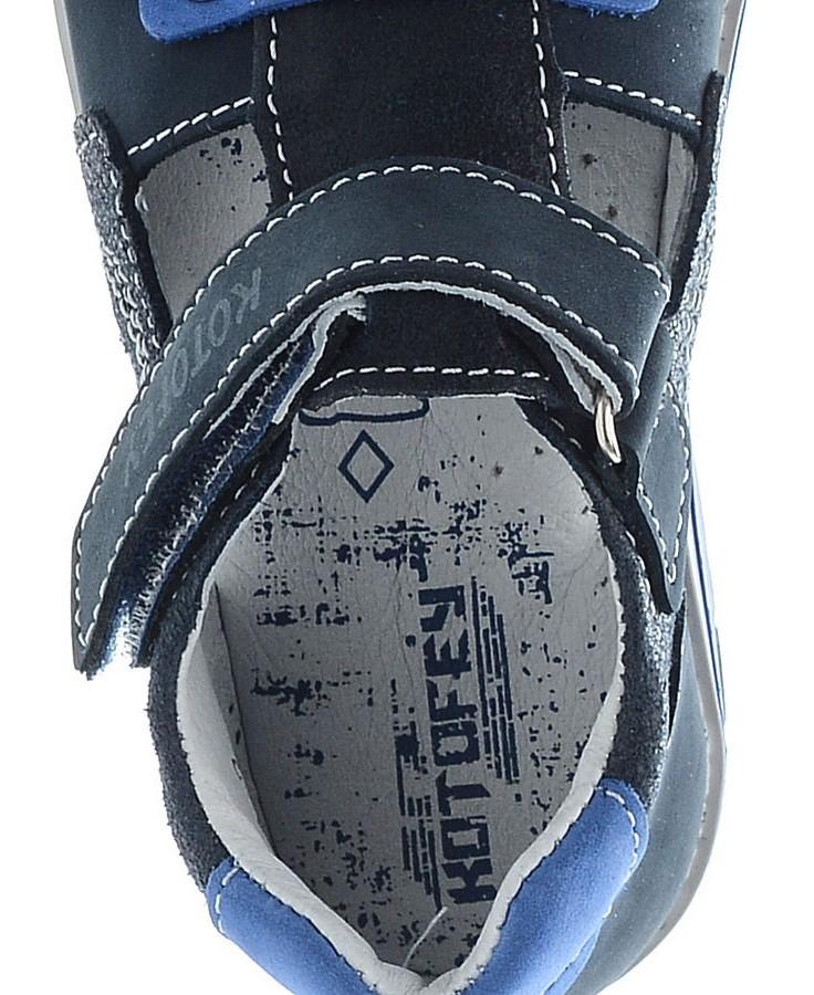 Детские сандалии Котофей 422056-23 из натуральной кожи, для мальчика, синие