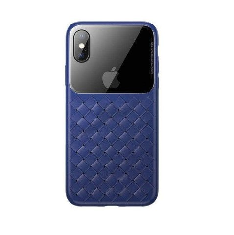 Чехол iPhone XS Baseus Weaving Case /blue/