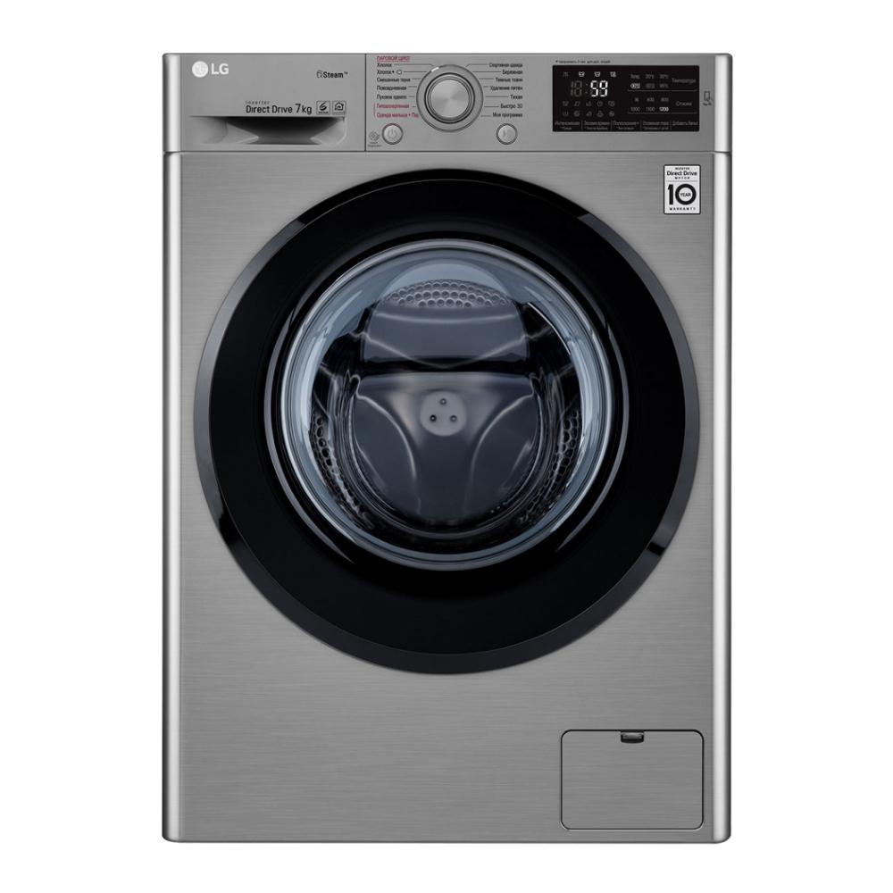 Узкая стиральная машина LG с функцией пара Steam F2M5HS6S фото