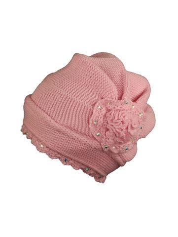 Шапка детская K302 темно-розовая