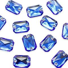 3252 Пришивные стразы Сваровски Cut Majestic Blue (14х10 мм)