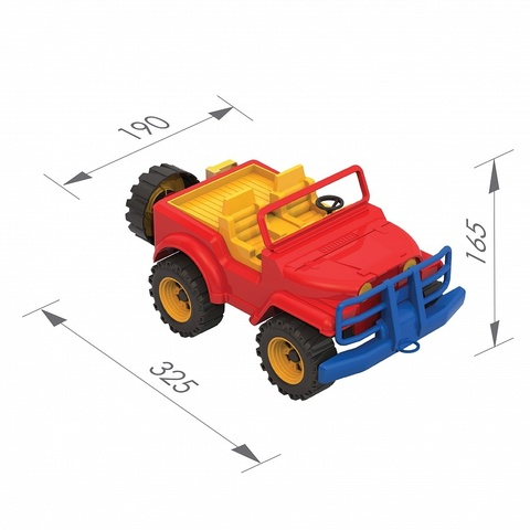 Джип 16.5x19x32.5 см., 135