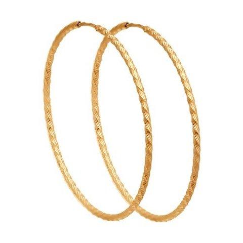 140156- Серьги-конго рифленые  из золота от SOKOLOV