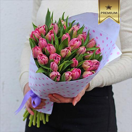 Купить букет пионовидных тюльпанов в Перми