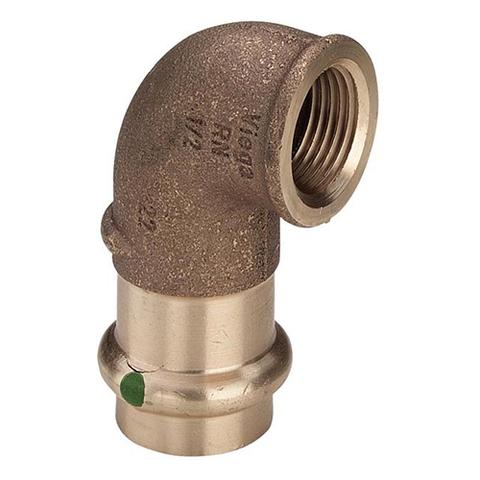 Отвод 90° Viega G3 Sanpress 2214.2 - 15 x 3/8