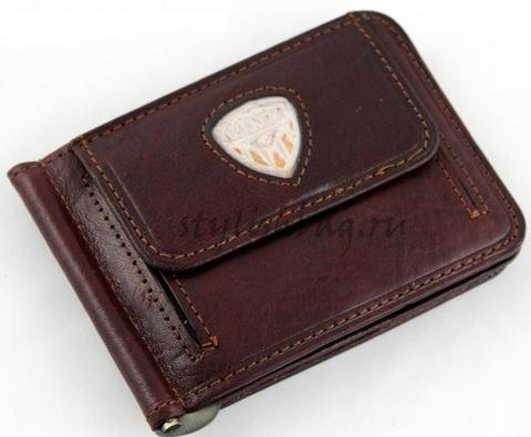 Мужской зажим для денег из кожи Cosset 1179