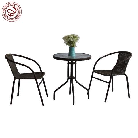 Комплект обеденный BISTRO Thick (стол + 2 кресла)