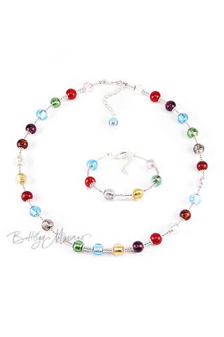 Комплект Carnavale Argento (ожерелье, браслет)