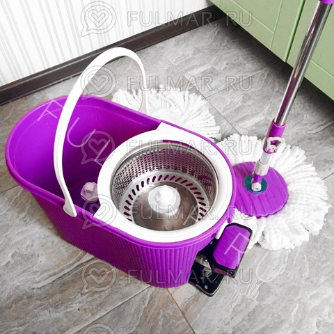Швабра и ведро с отжимом Spin Mop 7,5 литров Цвет Фиолетовый
