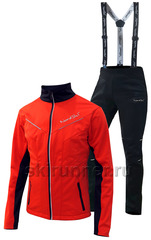 Утеплённый лыжный костюм Nordski Premium 2018 Red/Black мужской