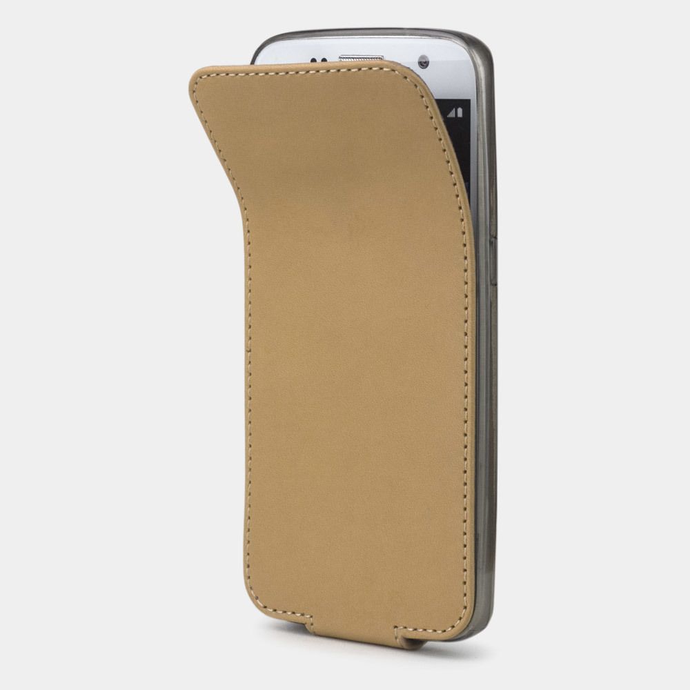 Чехол для Samsung Galaxy S7 из натуральной кожи теленка, натурального цвета