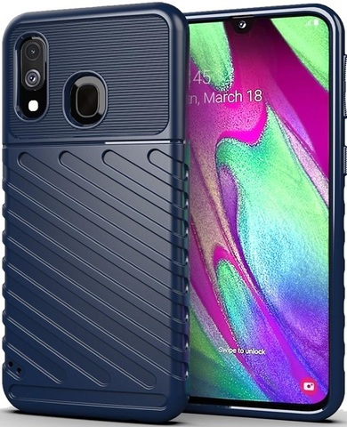 Чехол Samsung Galaxy A40 цвет Blue (синий), серия Onyx, Caseport