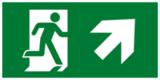 Е37 Направление к эвакуационному выходу направо вверх