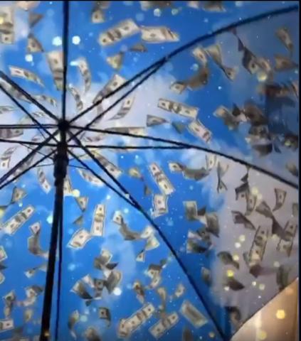 Денежный Зонт синий